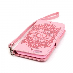 Embossing Campanula PU Phone Case for iPhone 6 / 6S -