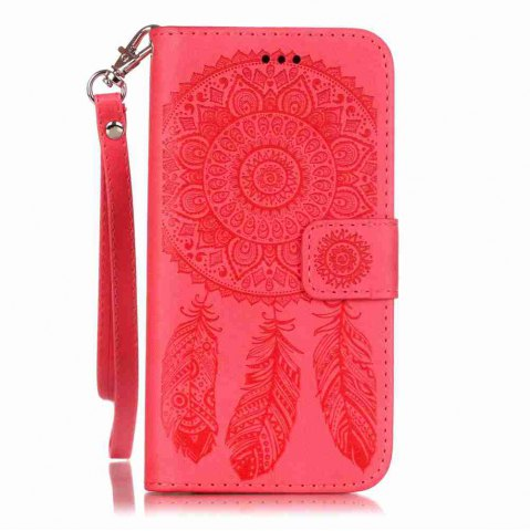 Sale Embossing Campanula PU Phone Case for iPhone 6 / 6S