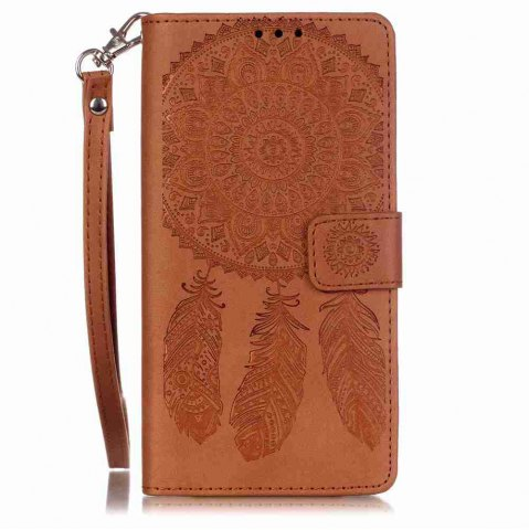 Cheap Embossing Campanula PU Phone Case for HUAWEI  P9 Lite