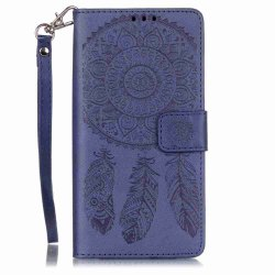 Embossing Campanula PU Phone Case for HUAWEI  P9 Lite -