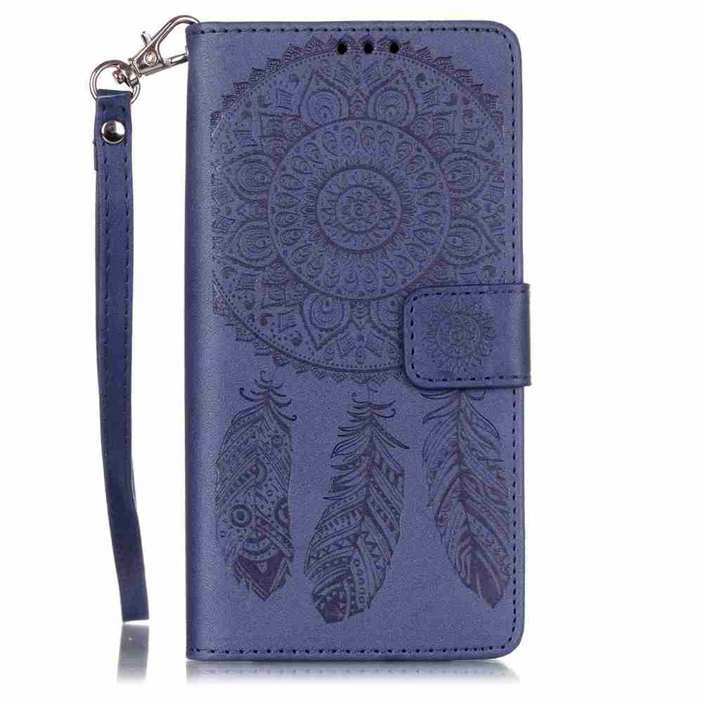 Sale Embossing Campanula PU Phone Case for HUAWEI  P9 Lite