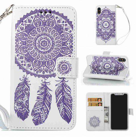 Outfit Embossing Campanula PU Phone Case for iPhone X