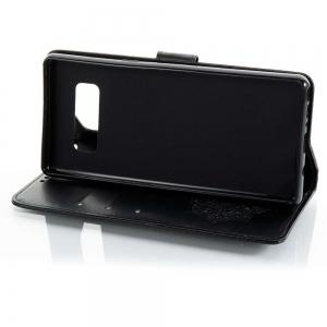 Embossing Campanula PU Phone Case for Samsung Galaxy  Note 8 -