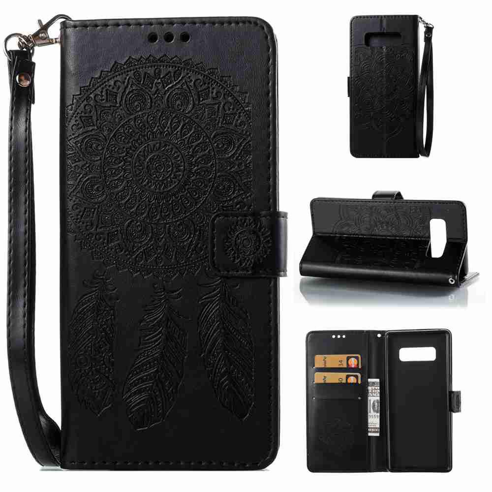 Chic Embossing Campanula PU Phone Case for Samsung Galaxy  Note 8