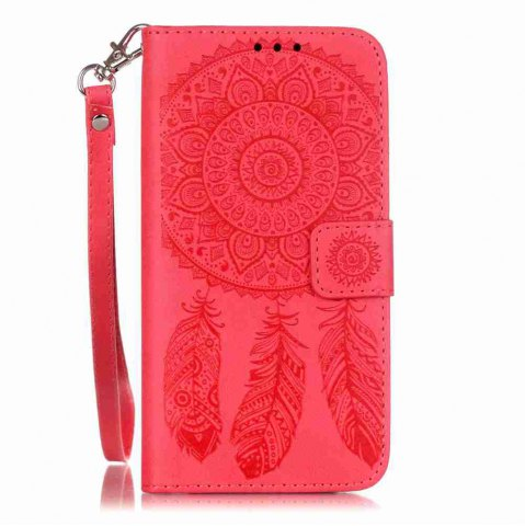 Affordable Embossing Campanula PU Phone Case for Samsung Galaxy S6