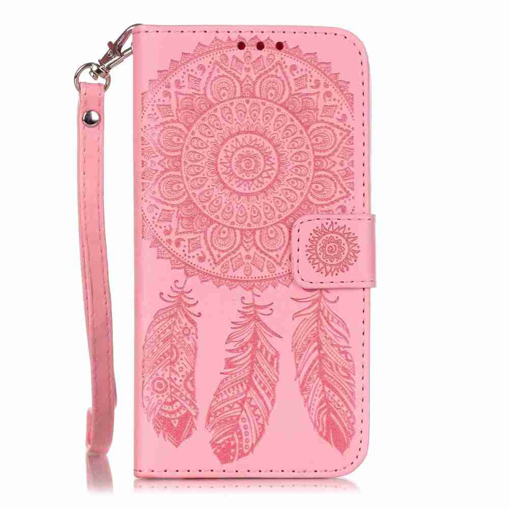 Latest Embossing Campanula PU Phone Case for Samsung Galaxy S6