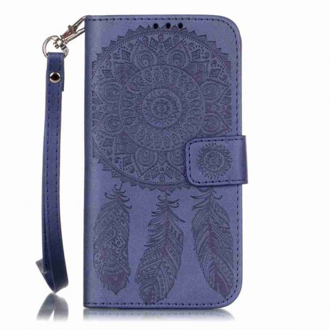 Outfit Embossing Campanula PU Phone Case for Samsung Galaxy  S6 Edge