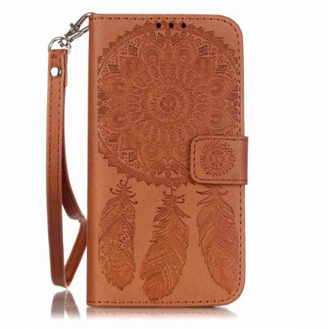 Sale Embossing Campanula PU Phone Case for Samsung Galaxy  S7