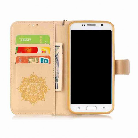 Chic Embossing Campanula PU Phone Case for Samsung Galaxy  S7