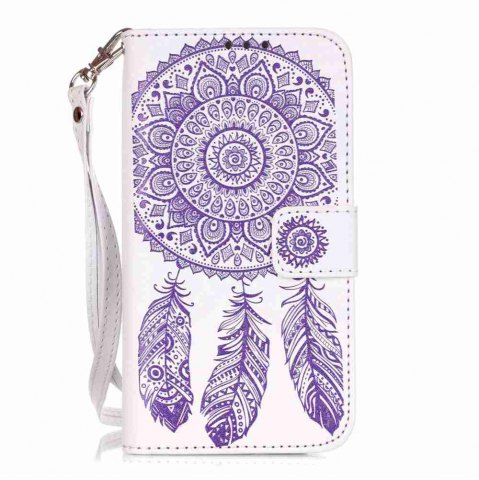 Latest Embossing Campanula PU Phone Case for Samsung Galaxy  S7