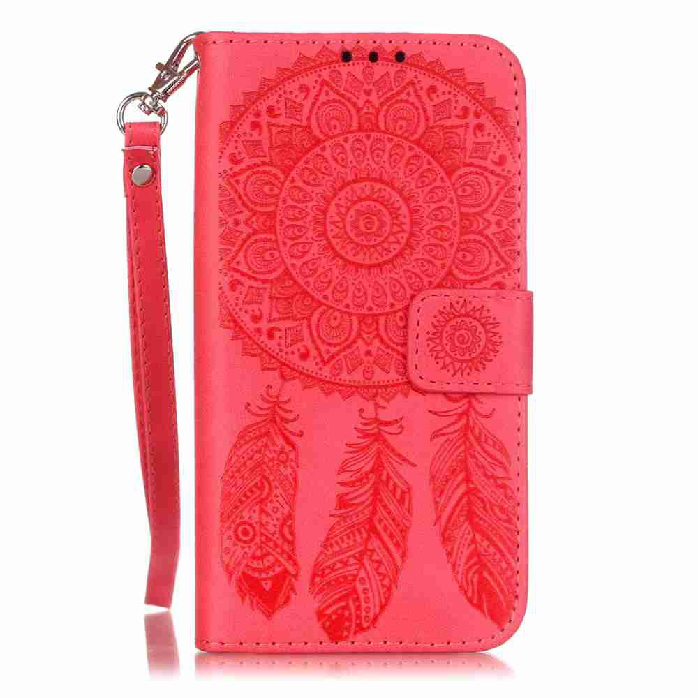Hot Embossing Campanula PU Phone Case for Samsung Galaxy  S7
