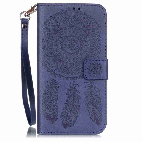 Buy Embossing Campanula PU Phone Case for Samsung Galaxy  S7 Edge