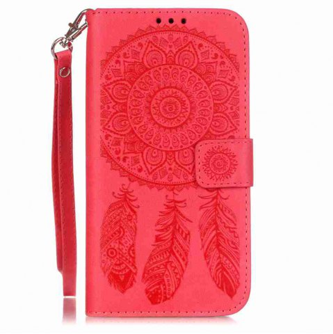 Affordable Embossing Campanula PU Phone Case for Samsung Galaxy  S7 Edge