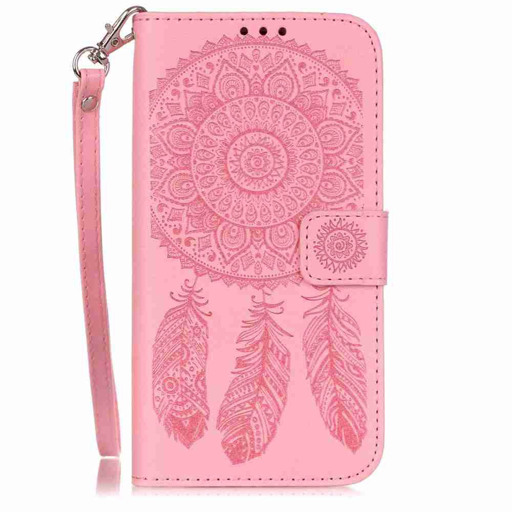 Chic Embossing Campanula PU Phone Case for Samsung Galaxy  S7 Edge