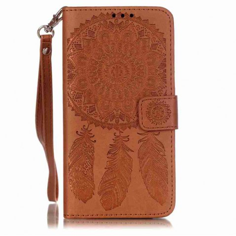 Online Embossing Campanula PU Phone Case for Samsung Galaxy   Grand Prime G530