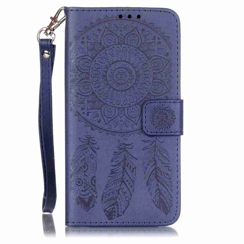 Shop Embossing Campanula PU Phone Case for Samsung Galaxy   Grand Prime G530