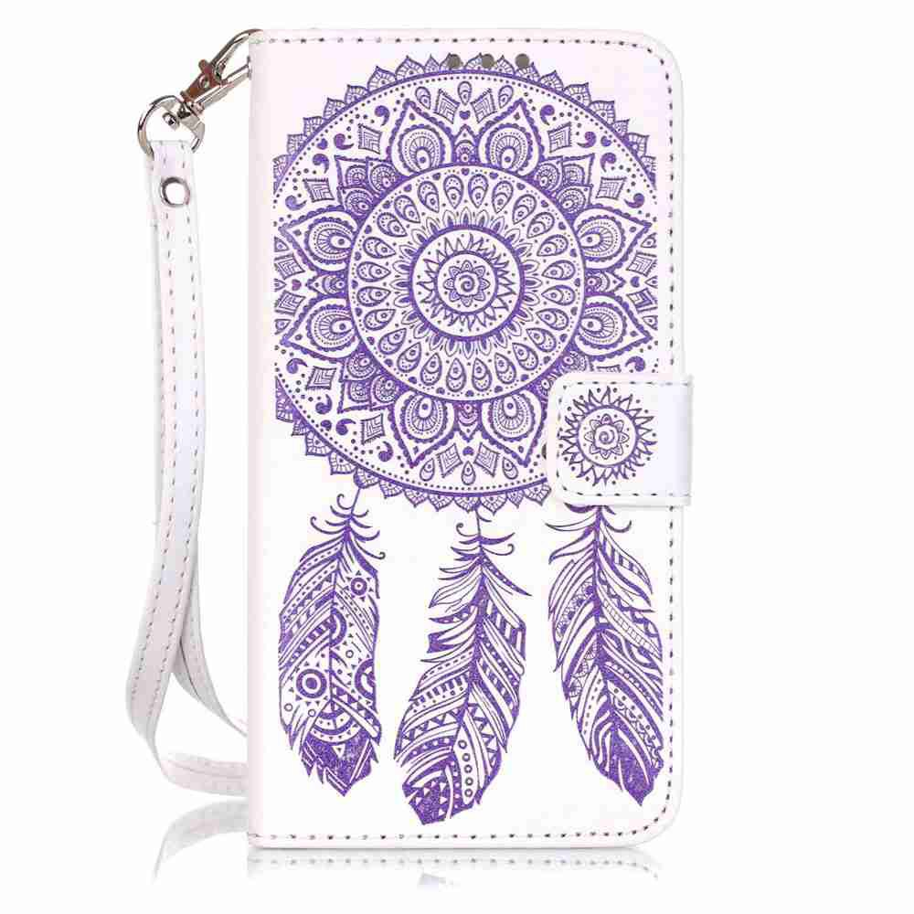 Shops Embossing Campanula PU Phone Case for Samsung Galaxy   Grand Prime G530