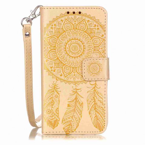 Hot Embossing Campanula PU Phone Case for Samsung Galaxy  A3 2016