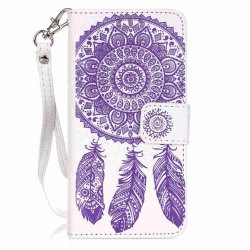 Embossing Campanula PU Phone Case for Samsung Galaxy  A3 2016 -