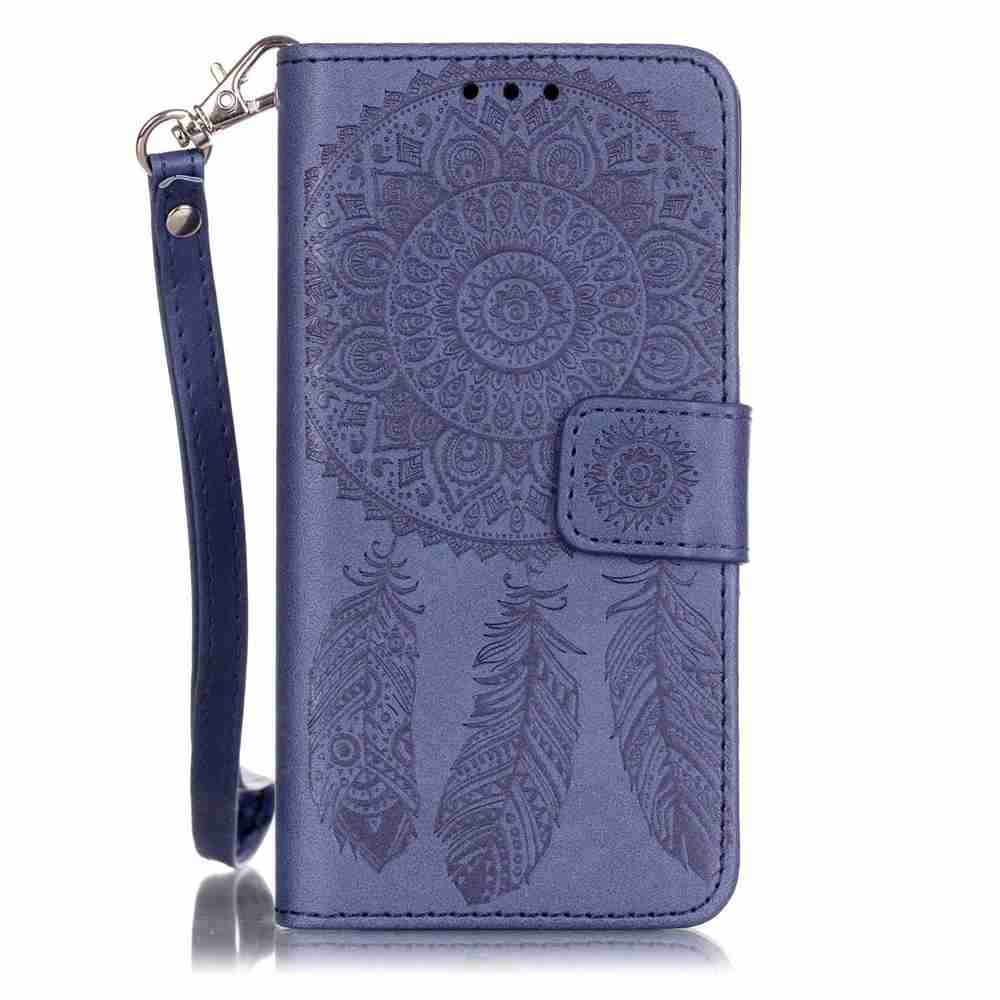 Buy Embossing Campanula PU Phone Case for Samsung Galaxy  A3 2016