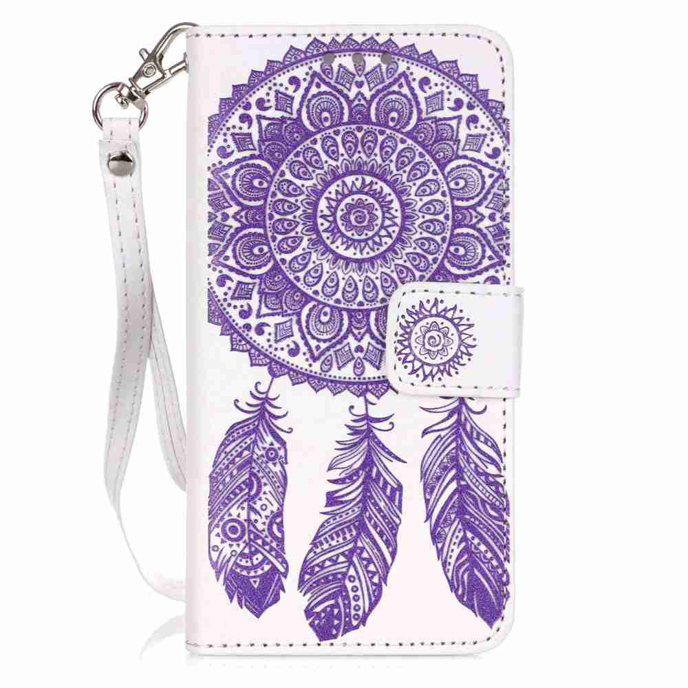 Outfits Embossing Campanula PU Phone Case for Samsung Galaxy  A3 2016