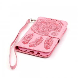 Embossing Campanula PU Phone Case for Samsung Galaxy J5 -