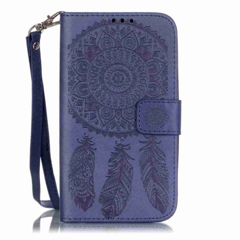 Online Embossing Campanula PU Phone Case for Samsung Galaxy J5