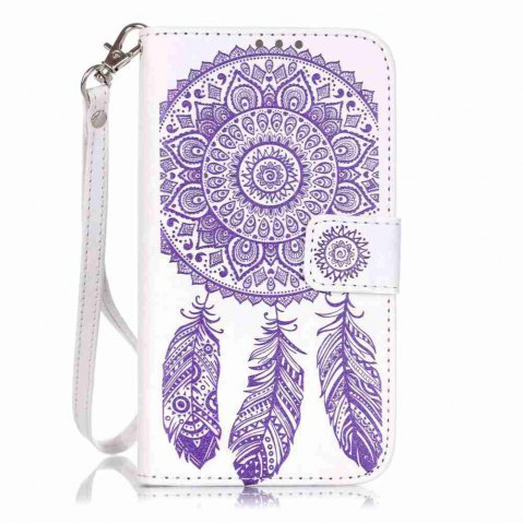 Shops Embossing Campanula PU Phone Case for Samsung Galaxy J5
