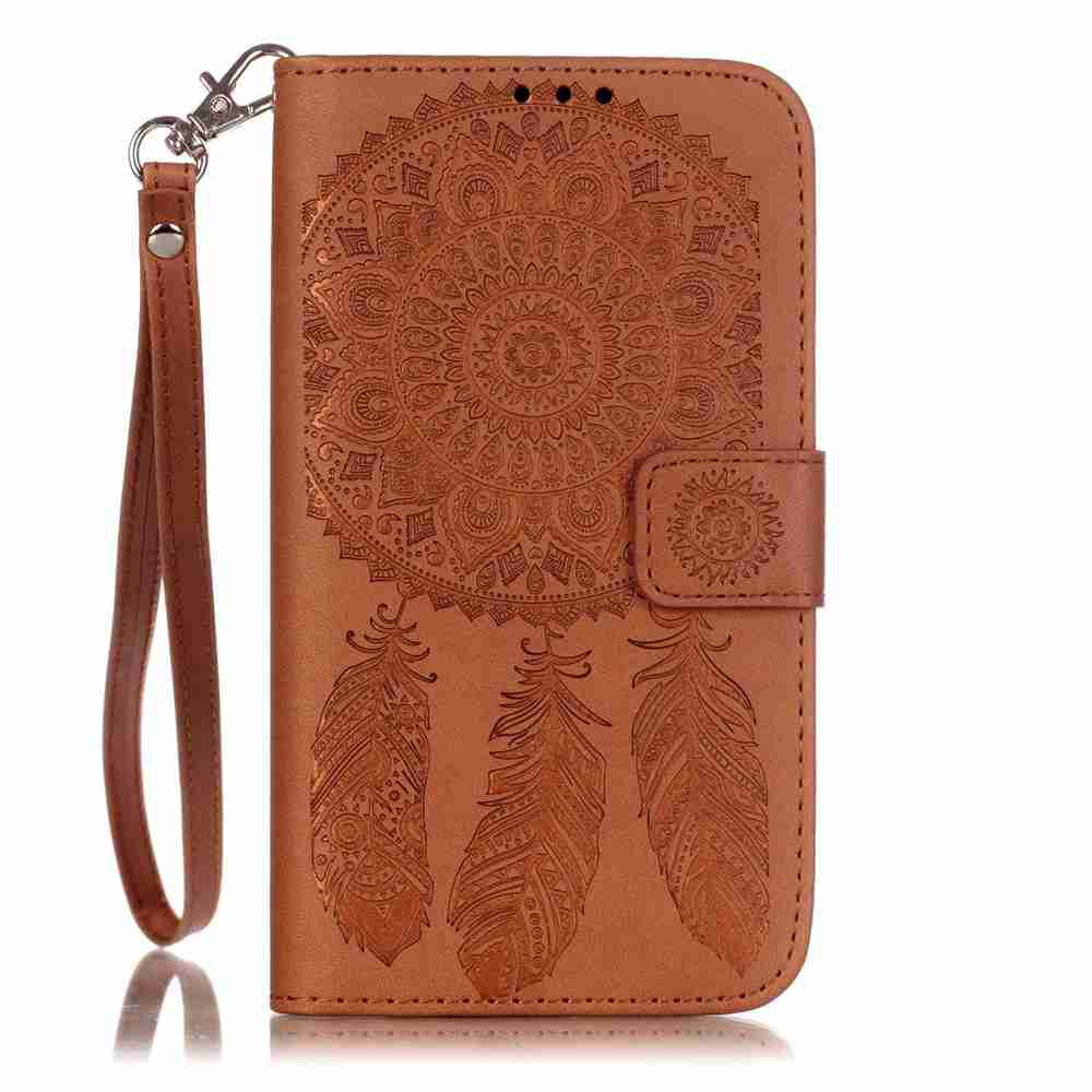 Latest Embossing Campanula PU Phone Case for Samsung Galaxy J5