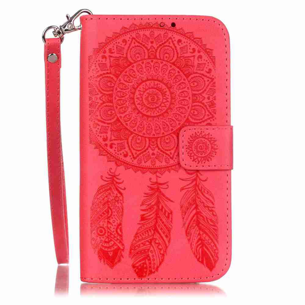 Sale Embossing Campanula PU Phone Case for Samsung Galaxy J5