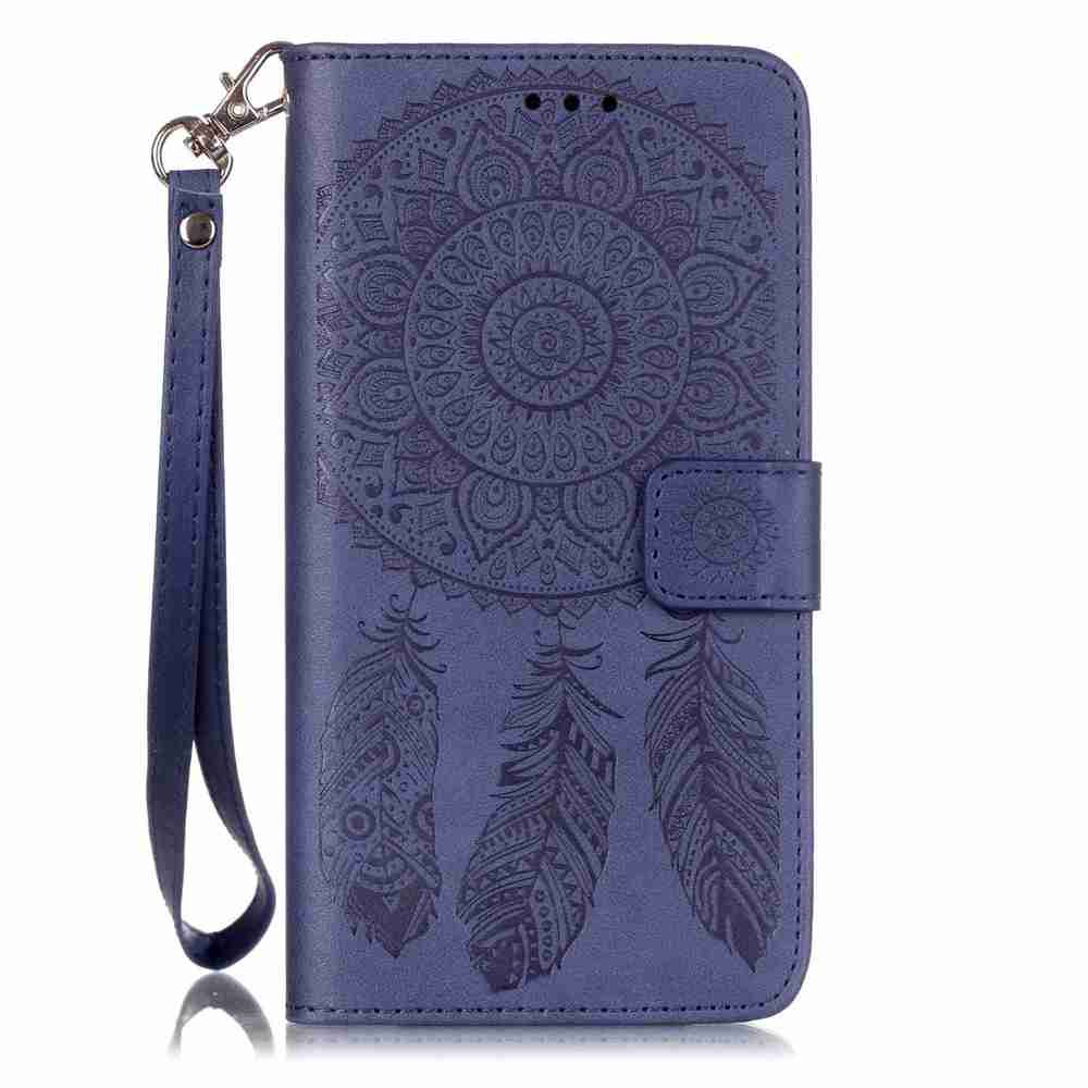 Sale Embossing Campanula PU Phone Case for Samsung Galaxy S6 Edge Plus