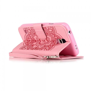Embossing Campanula PU Phone Case for Samsung Galaxy S5 -