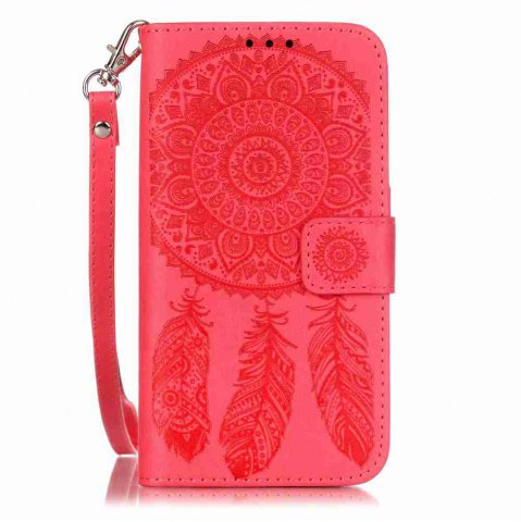 Best Embossing Campanula PU Phone Case for Samsung Galaxy S5