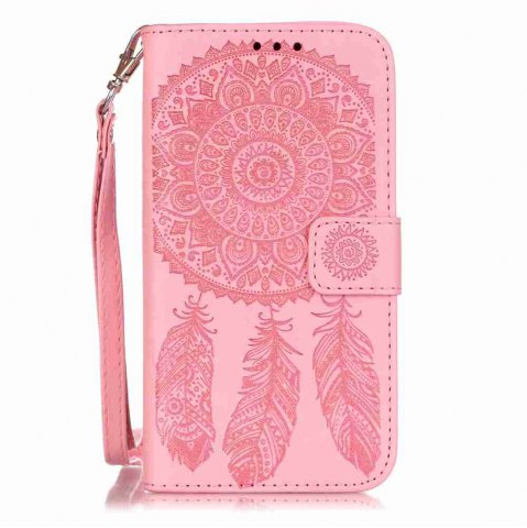 Unique Embossing Campanula PU Phone Case for Samsung Galaxy S5