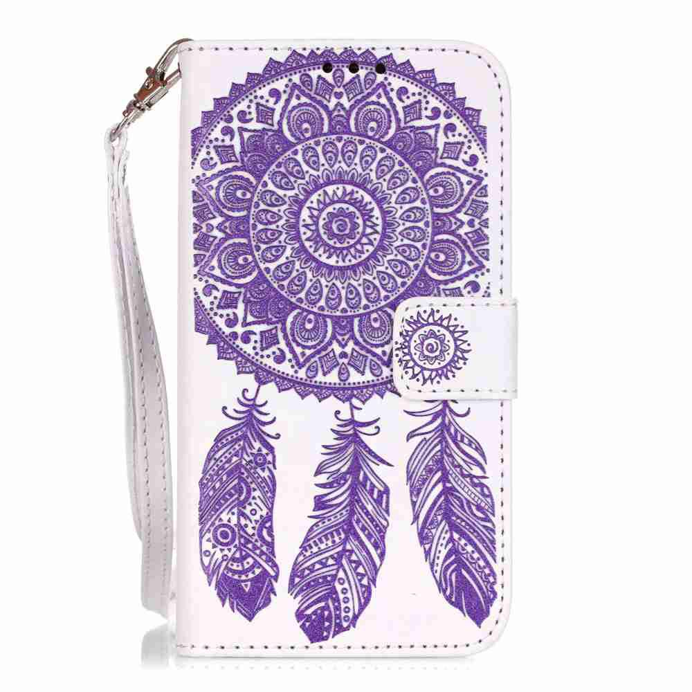 Shop Embossing Campanula PU Phone Case for Samsung Galaxy S5