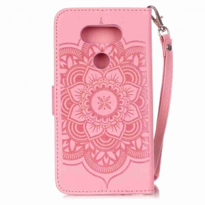 Embossing Campanula PU Phone Case for LG G5 -