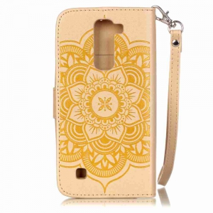Embossing Campanula PU Phone Case for LG K7 -
