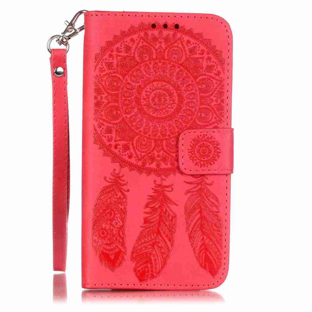 Outfits Embossing Campanula PU Phone Case for LG K7