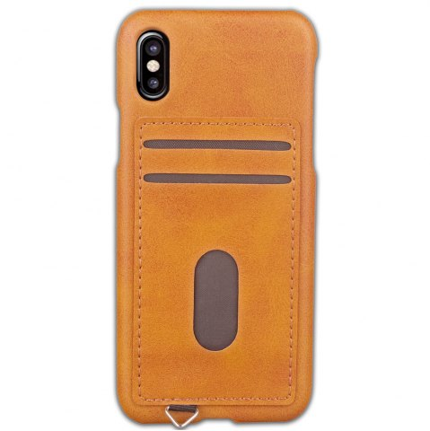 New Simple Stripes Card Lanyard Pu Leather for iPhone X