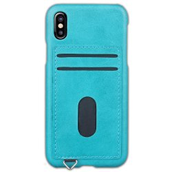 Simple Stripes Card Lanyard Pu Leather for iPhone X -