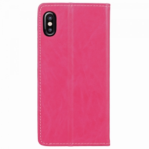 Custer Simple Stripes Card Lanyard Pu Leather for iPhone X -