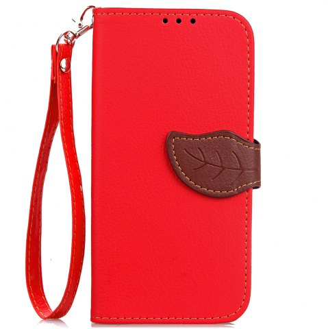 Chic Leaf Card Lanyard Pu Leather for Cubot RAINBOW 2