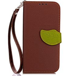 Leaf Card Lanyard Pu Leather for Cubot RAINBOW 2 -