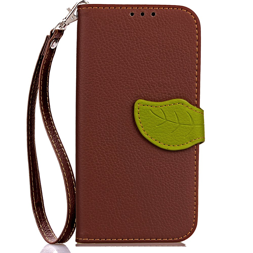 Store Leaf Card Lanyard Pu Leather for Cubot RAINBOW 2