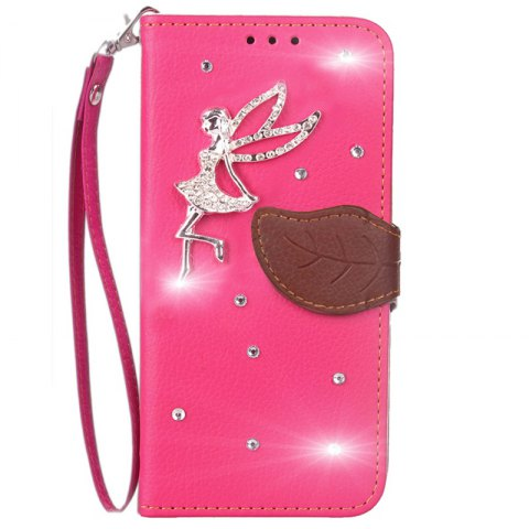 Outfits Leaf Stick Drill Card Lanyard Pu Leather for Cubot RAINBOW 2