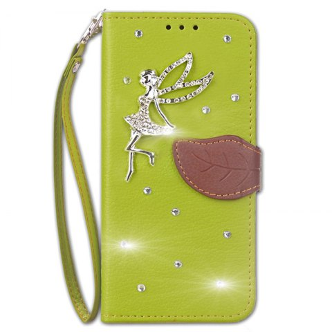 Buy Leaf Stick Drill Card Lanyard Pu Leather for Cubot RAINBOW 2