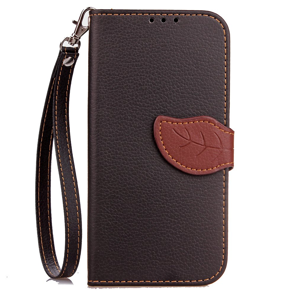 Chic Leaf Card Lanyard Pu Leather for Xiaomi 5X