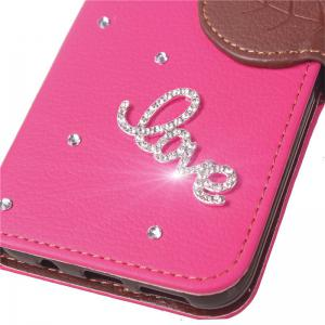 Love Leaf Stick Drill Card Lanyard Pu Leather for Xiaomi 5X -