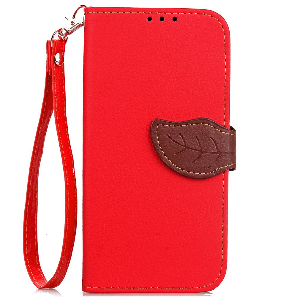 Discount Leaf Card Lanyard Pu Leather for Redmi Note 5A