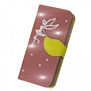 Leaf Stick Drill Card Lanyard Pu Leather for Redmi Note 5A -